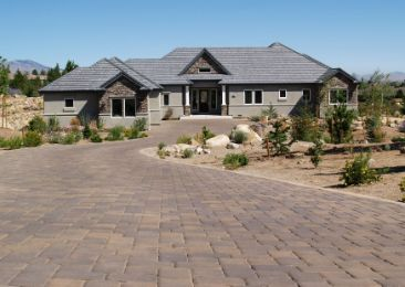 brick driveway to a country house | Toowoomba Retaining Walls
